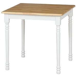 不二貿易 ダイニングテーブル マキアート 2人掛け用 ホワイト ナチュラル 96667