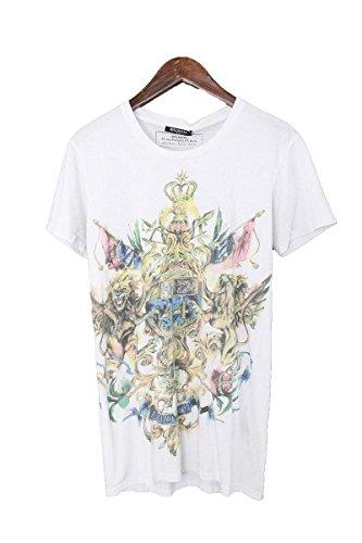 (バルマン) BALMAIN 【15AW】【W5HJ601I519C】ライオンプリントTシャツ(XS/ホワイト) 中古