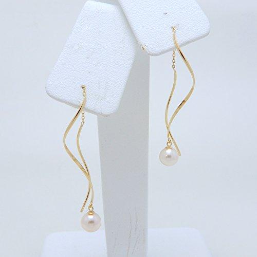 アコヤ真珠 ベビー パール 5.5mm 18金製 K18 gold ゴールド アメリカンピアス (日本製 Made in Japan) (金属アレルギー対応) ジュエリー [HJ]