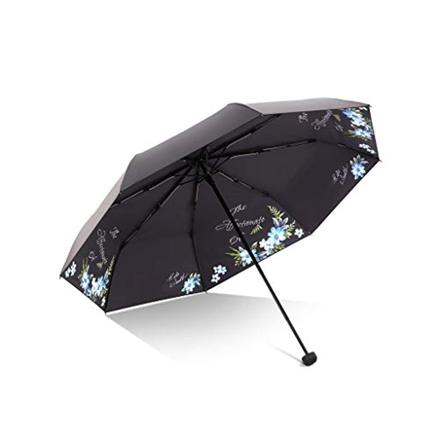 ラウズサスティーンで出来ている傘、自動開閉の旅行傘強化換気と防風フレームポータブルコンパクト折りたたみ軽量デザインと高い耐風性 (Color : Blue, Size : L)
