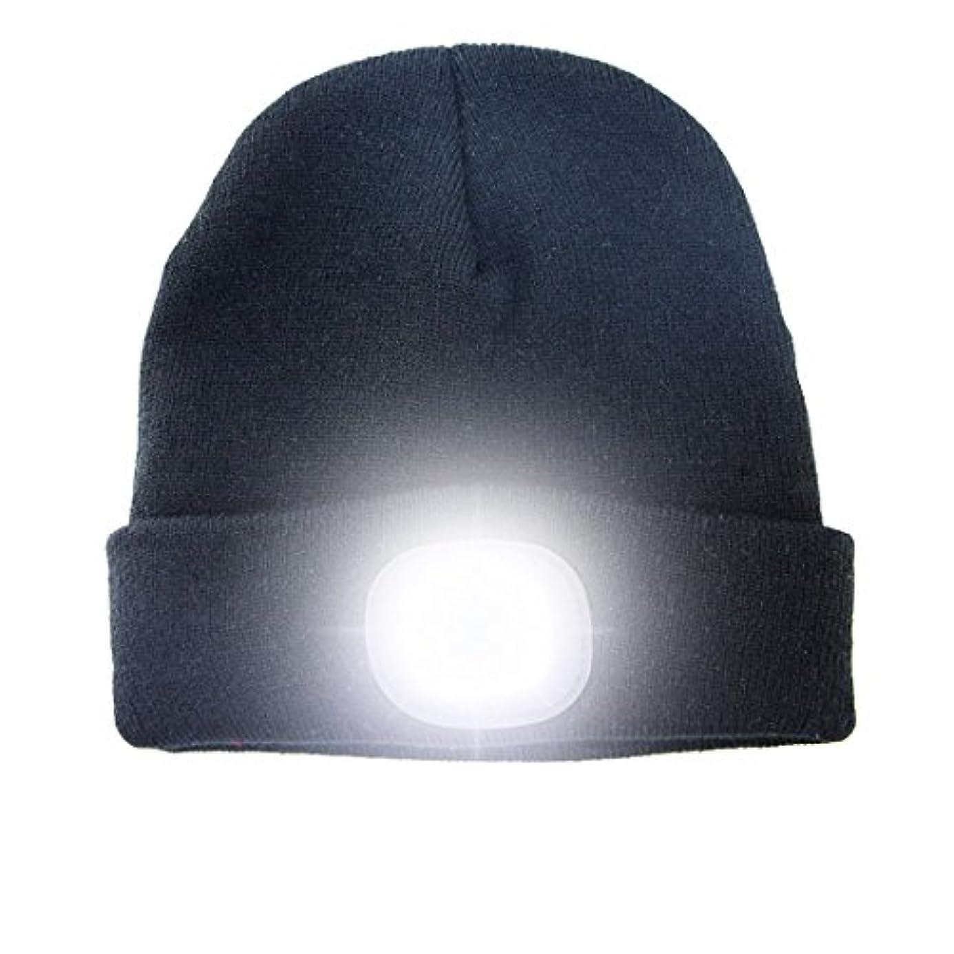 猫背ウェブ解放するLLY 男女兼用 暖かい明るいLED照明付きビーニー帽 ヘッドランプ 充電式冬用暖かいニット帽 男性、女性、狩猟、キャンプ、グリル用