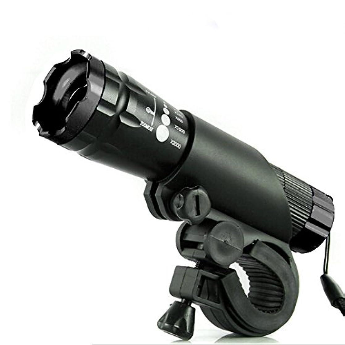 堀ポーンオセアニアサイクルライト 自転車 LED 照明 高輝度フロントライト ライトホルダー付き MINO Creates カラビナセット (ブラック)