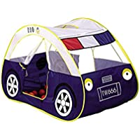 KooJoee[Tent Serise]Kids/Children Anti-mosquito Waterproof Foldable Pop Up Indoor and Outdoor Large Police Car Play tent/Play House/Toys As a Best Gift for 1-6 years old Kids/boy/girls/baby/Infant