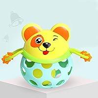 Qiyun RattleおもちゃHand Grasping穴ベルリングボールキュート動物Teether Rattleおもちゃfor Kids CY-1205-YJ4
