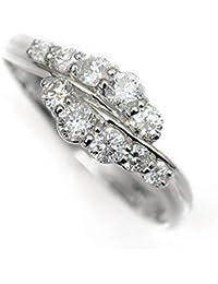 結婚 10周年記念 天然 ダイヤモンド 10石 プラチナ リング 指輪 Pt900/D:0.50ct スイートテン 14.5号