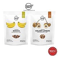 Nana Fruits Dehydrate Banana x 1 and Longan x 1 (Pack 50 g.)