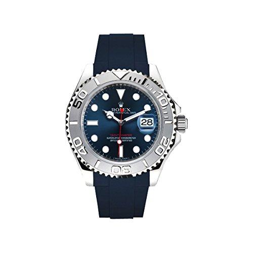 [ラバービー] RubberB ラバーベルト ROLEX ヨットマスター(40mm)専用ラバーベルト(ROLEX純正バックルを使用)(ネイビー)※時計は付属しません(Watch is not included)[並行輸入品]