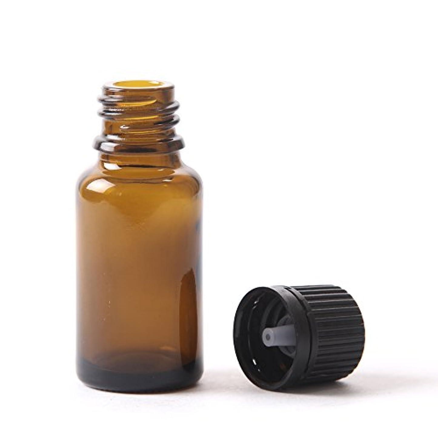 グレートオークおなじみのすべて15ml Amber Glass Boston Round Bottle (With Black Tamper Evident Cap & Dropper) (156)