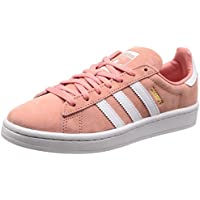 adidas Women's Campus Shoes, Tactile Rose/Footwear White/Crystal White