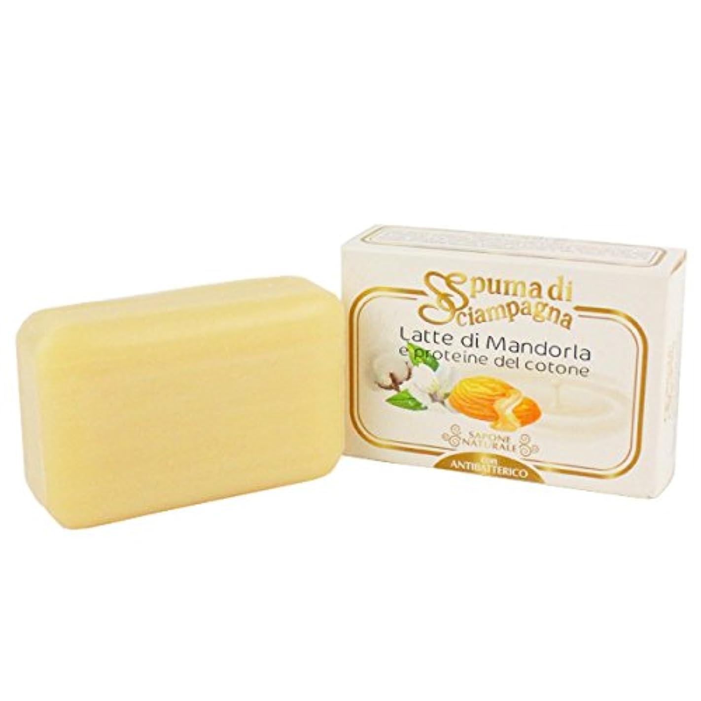 プレミア例外骨の折れるSpuma di Sciampagna (スプーマ ディ シャンパーニャ) ナチュラルソープ 化粧石けん 145g アーモンドの香り