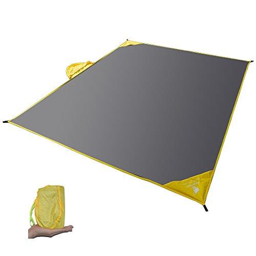 GEERTOP テント シート 2 ~4人用 多機能 防水 レインポンチョ バックパックカバー ピクニックマット キャンプ アウトドア用