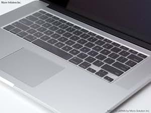 マイクロソリューション Micro Solution Inc. フルフラットキーボードカバー・PURE WRAP KEY #05 for Apple 13/15 MacBook Pro with Retina display 半透明 PWK05