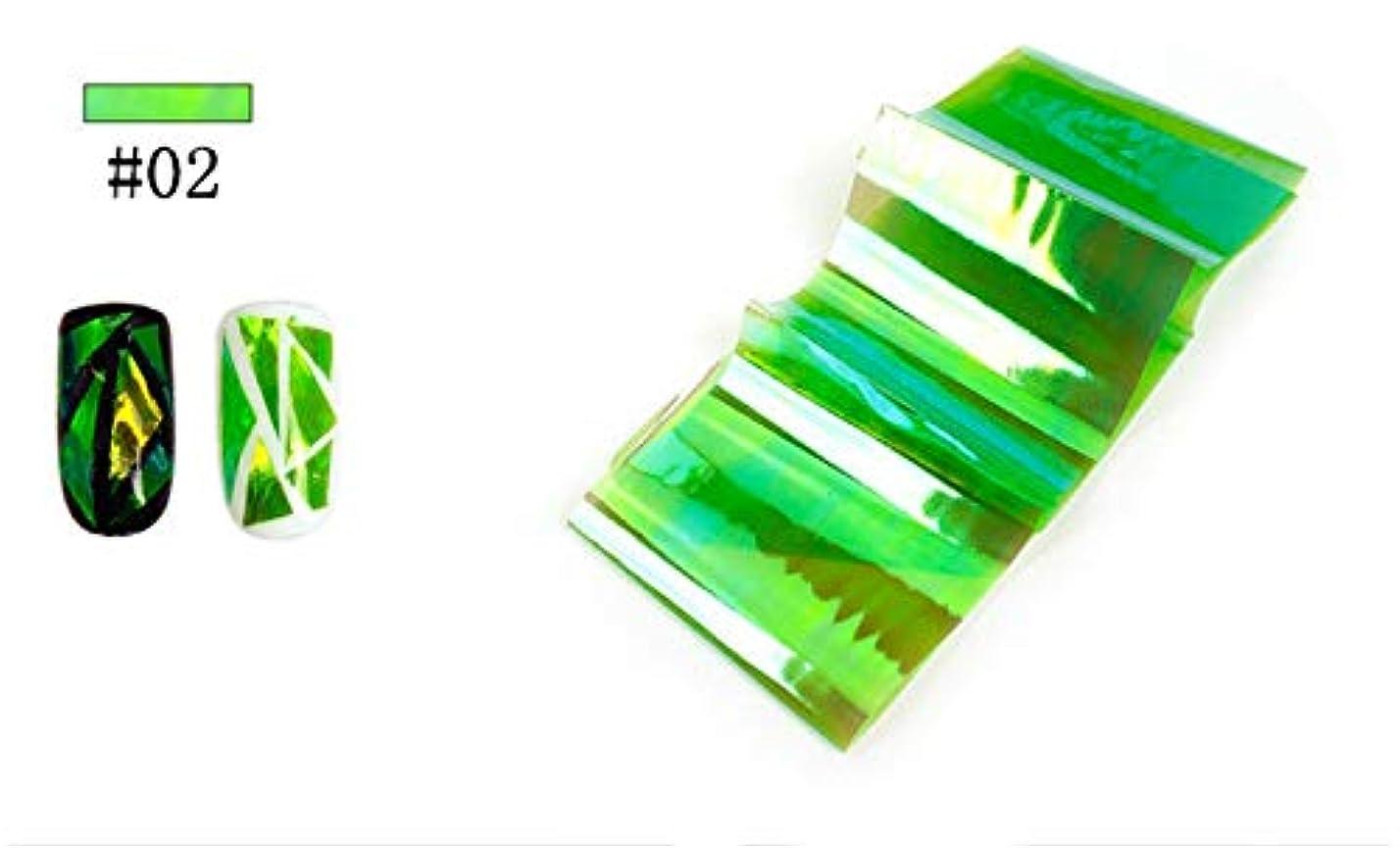 配る抗議不信SUKTI&XIAO ネイルステッカー 1ピース転送箔ステッカー壊れたガラスネイルアートネイル美容装飾ステンシルデカール、02