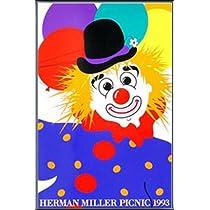 ポスター ハーマンミラー Clown サマーピクニック 1993年 Kathy Stanton 額装品 アルミ製ベーシックフレーム(ブラック)