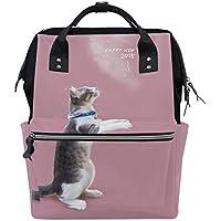 ママバッグ マザーズバッグ リュックサック ハンドバッグ 旅行用 猫 新年 プリント ファション