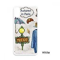 ドレスの傘のフランス生活 iphoneケースホワイトx phonecaseアップルカバーケースの贈り物のために