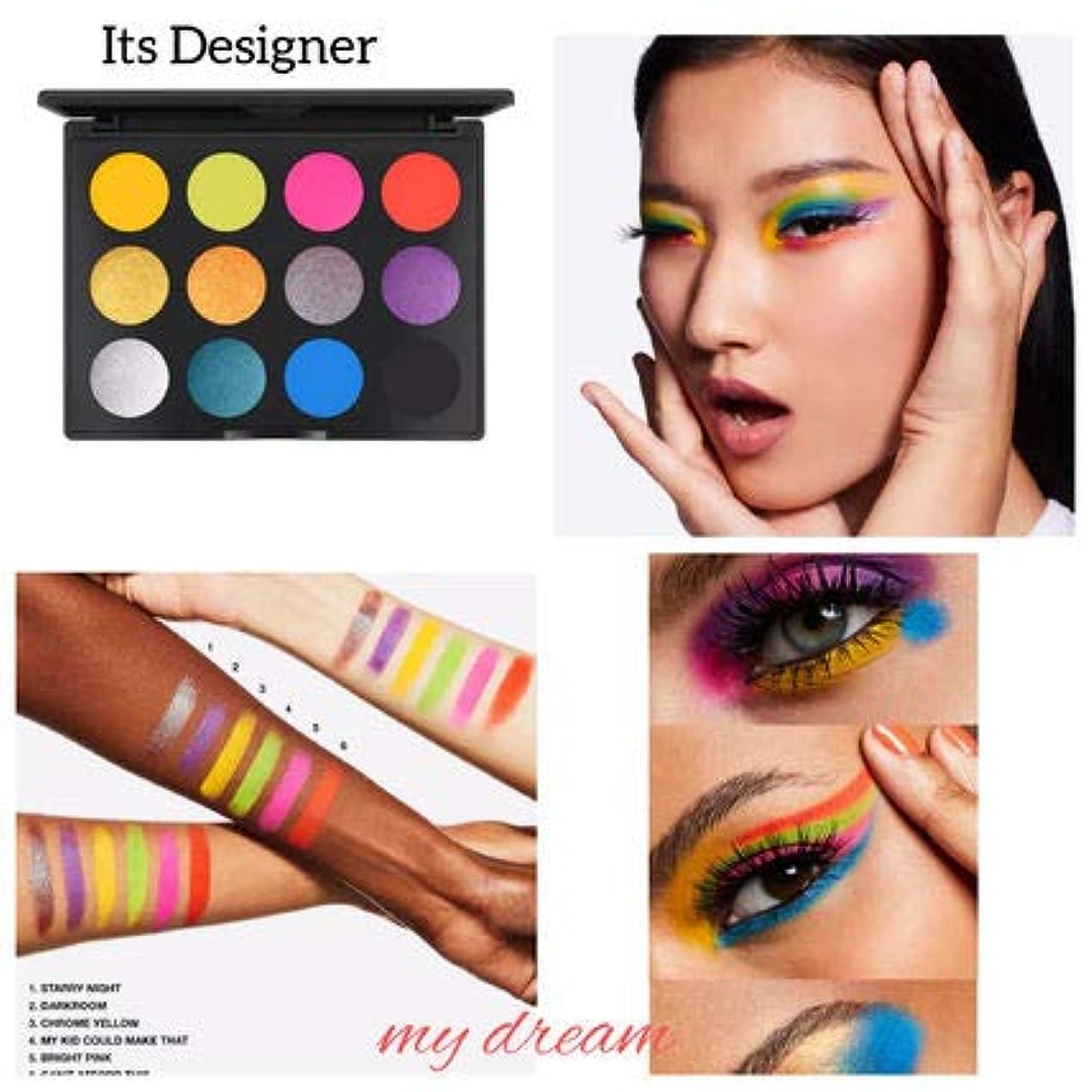 ワーディアンケースできる上にMAC マック Art Library Eyeshadow Paletteアイシャドウ パレット12色ITS DESIGNER [並行輸入品]