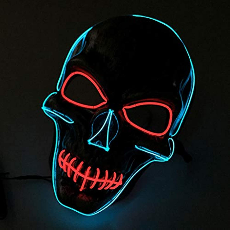 オフいらいらする生命体プロムパフォーマンスハロウィーングローマスクライトモノクロマスク
