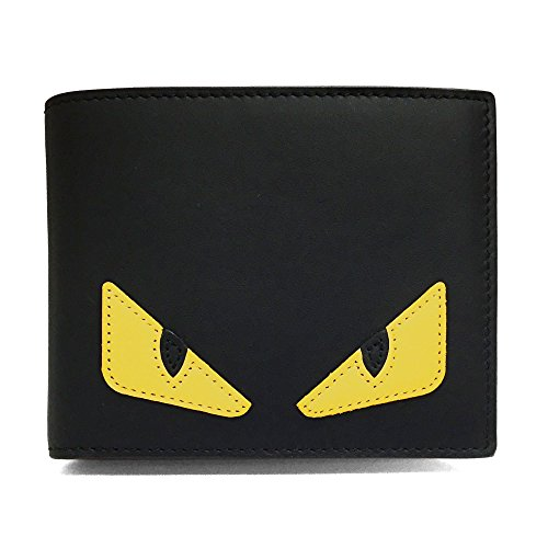 [フェンディ]FENDI 財布 メンズ バッグ バグズ アイ 7M0001 O73 F0U9T BAG BUGS EYE 二つ折り財布 黒 ブラック [並行輸入品]