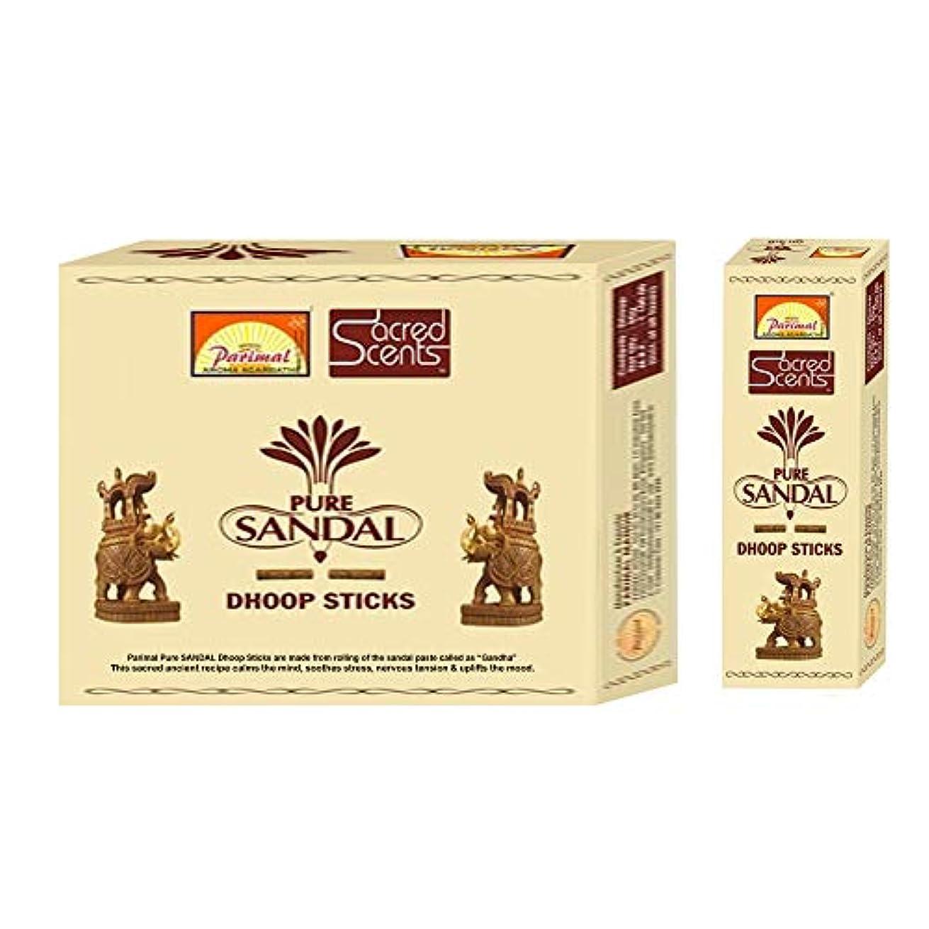 Parimal Sacred Scents 天然ピュアサンダル フープスティック | 1箱50グラム6パック | 輸出品質
