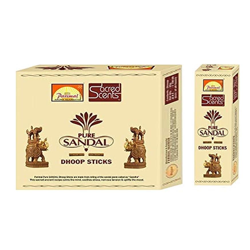 法的忌避剤Parimal Sacred Scents 天然ピュアサンダル フープスティック | 1箱50グラム6パック | 輸出品質