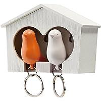 QUALY 鍵収納 デュオ スパロウ鍵収納 キーリング オレンジ 5217023OR