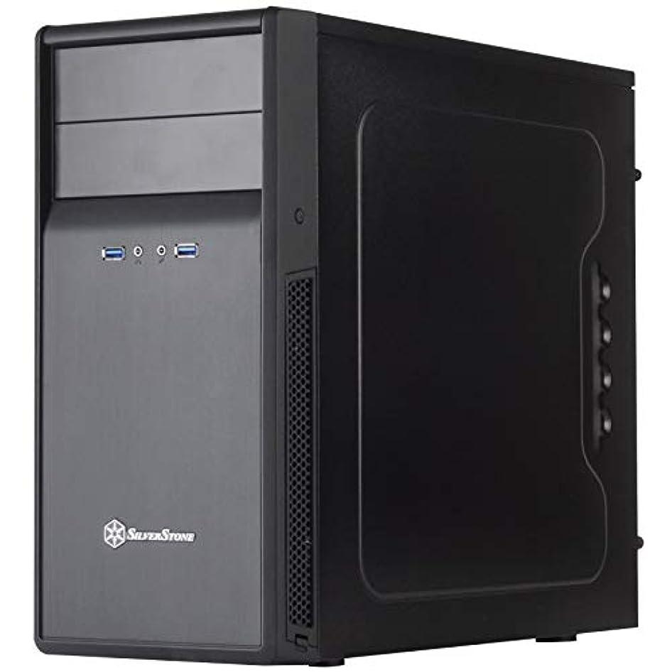 羊の牛罪SilverStone Technology マイクロATX コンピューターケース サウンド減衰素材付き PS09B-USA