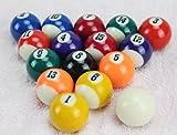 本格ビリヤードボール16個セット 国際標準 直径38mm 球 (並行輸入品)