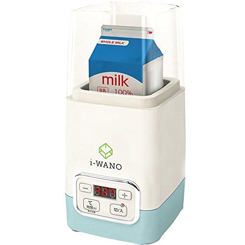 【製菓衛生師監修】i-WANO 牛乳パックのままポンッ ヨーグルトメーカー 【温度調節機能(25~65℃) / タイマー機能(1~48時間)】 甘酒 麹 などさまざまな発酵食品にも対応 1,000ml容器・計量スプーン・クリップ2個付属