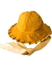 [チューカー] 遮光ハット レディース 日よけ帽子 無地 リボン付き サイズ調節 折りたたみ つば広 小顔効果 紫外線カット 六色入り