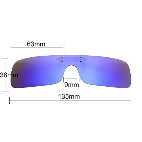 Leetaker クリップサングラス メガネの上からサングラス 前掛け偏光サングラス 偏光 釣り 運転用 昼夜兼用