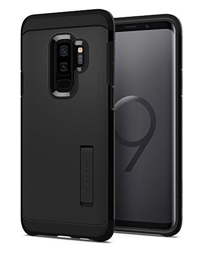 【Spigen】 スマホケース Galaxy S9 Plus ケース [ SC-03K SCV39 ] 対応 米軍MIL規格取得 耐衝撃 スタンド機能 タフ・アーマー 593CS22933 (ブラック)