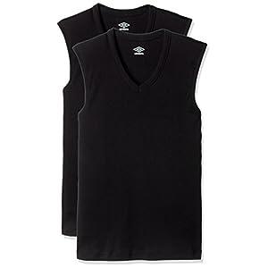 (アンブロ) UMBRO Tシャツ Vネックスリーブレス 2枚組 ボーイズ UB18F 97 ブラック 160