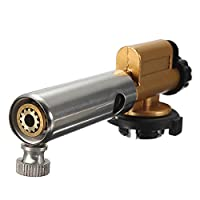 ブタンガスバーナー銅銃メーカー電子点火トーチライターアウトドアキャンプクッキングの調整可能な火力
