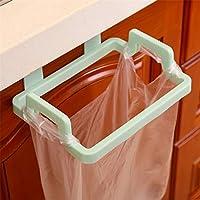 1個環境にやさしいキッチンドアバック吊りスタイルキャビネットスタンドごみゴミ袋サポート保有者 (ランダムな色)