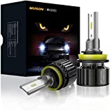 Muson Car LED Headlight Bulbs 50000 Hrs CSP with Fan system, All in one Conversion Kit IP67 Waterproof 6000k Cool White (Easy to install, Contains 2 Bulbs)
