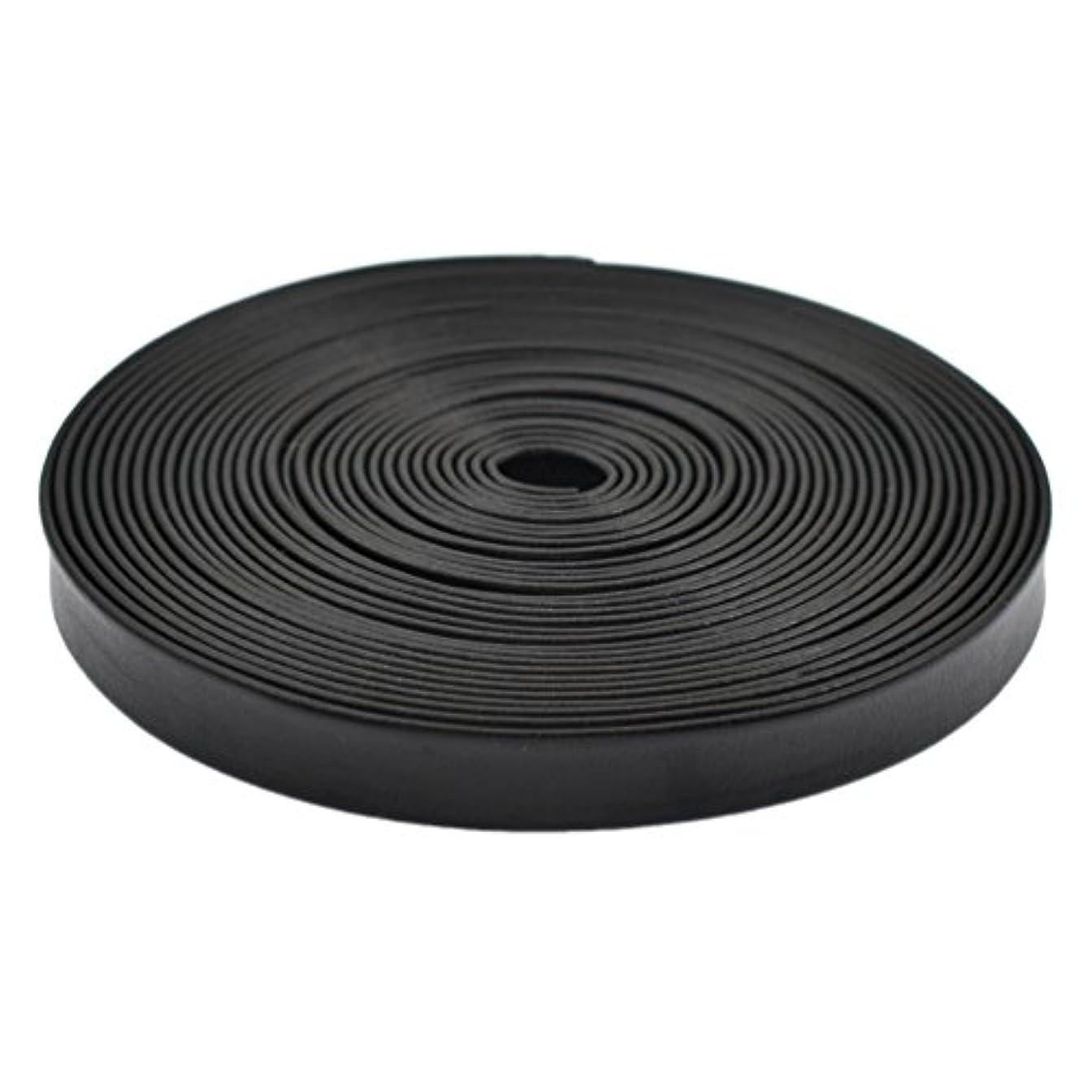 ベリー時々クラブ(ライチ)Lychee 合皮 PUレザー テープ コード リボン レザークラフト 長さ5m ブラック