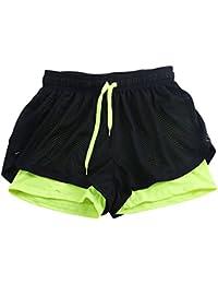(シャイニング ガールズ)shining girls レディース 速乾ショートパンツ フィットネス?トレーニング用レギンス付き スポーツウエア