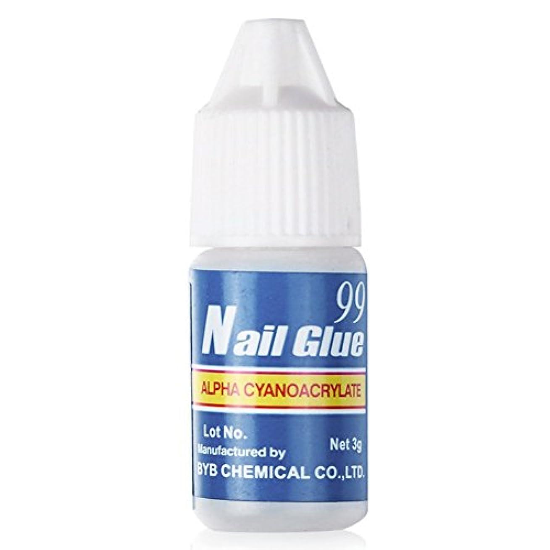 無条件ドメイン鎮痛剤プロフェッショナルな強力なネイルアート美容ジェルネイルグルー(2個)