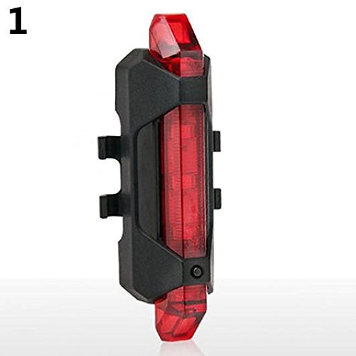 増強代理人軽蔑する新しい5つのLED USB充電式サイクリング自転車自転車後部安全テール警告灯