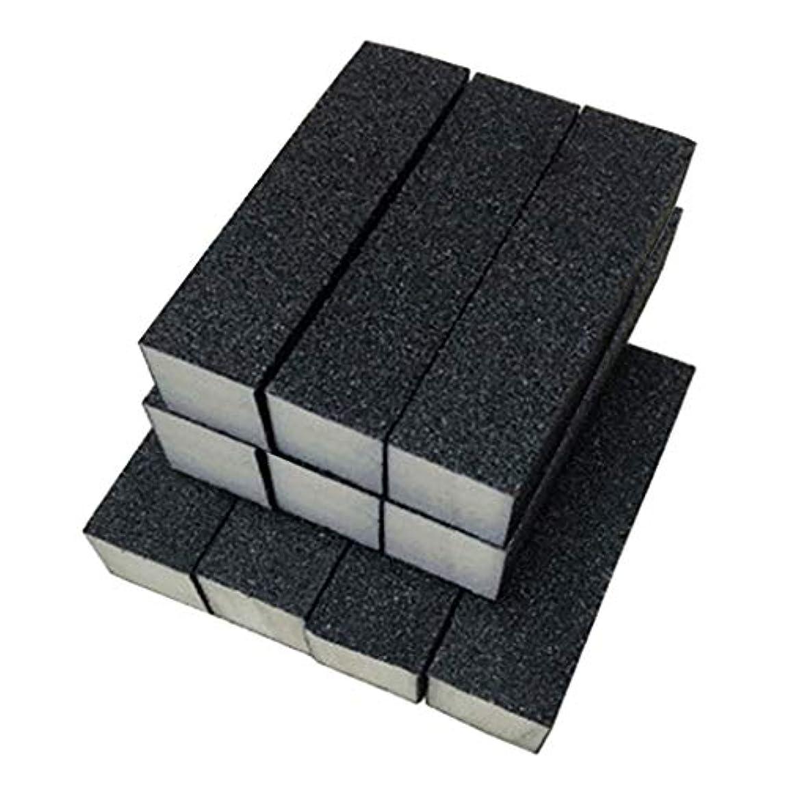 苦樹木共役Toygogo 10ピース/個ブラックバッファーサンディングブロックファイル、グリットマニキュアネイルアートのヒントツール、プロのサロンや家庭での使用に適しています