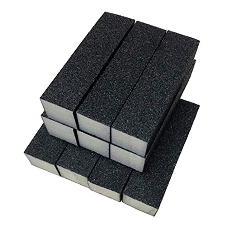 雄弁な慢な闘争Toygogo 10ピース/個ブラックバッファーサンディングブロックファイル、グリットマニキュアネイルアートのヒントツール、プロのサロンや家庭での使用に適しています