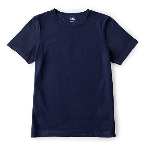 (スリードッツ) three dots サンデッドジャージ・クルーネックTシャツ ネイビー M