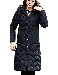 GridNN (ダウン ジャケット レディース 冬 コート カラー ロング ジャケット 暖かい 厚手 パッド入りフード付き コート(,)