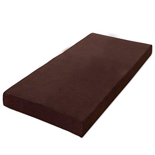 タンスのゲン 低反発マットレス 8cm シングル 体圧分散 洗えるカバー付き ブラウン AM 000074 17 【51960】