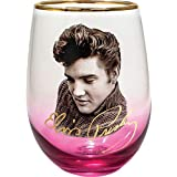 Spoontiques 21705 Elvis Stemless Glass, 20 Ounces, Pink