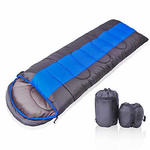 YOTECE 寝袋 封筒型 収納袋付き ブルー 1.6kg