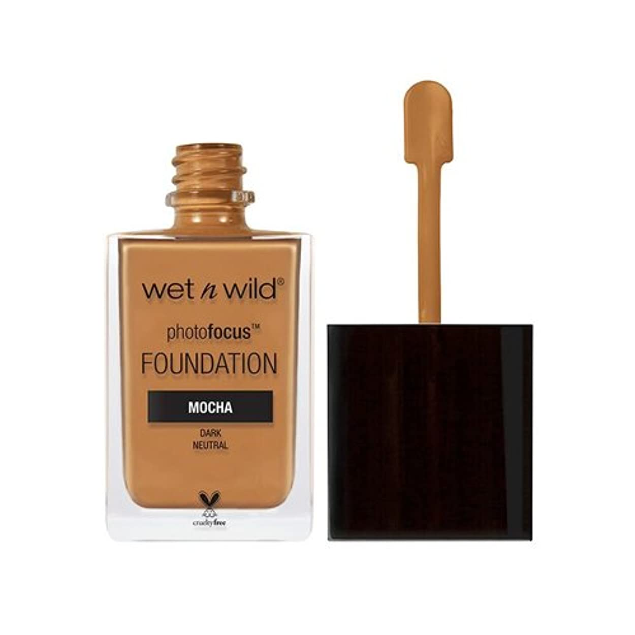 汚れる着陸粉砕する(3 Pack) WET N WILD Photo Focus Foundation - Mocha (並行輸入品)