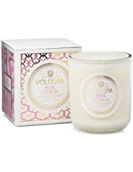 Voluspa ボルスパ メゾンブラン ボックス入りグラスキャンドル ピンクシトロン MAISON BLANC Box Glass Candle PINK CITRON