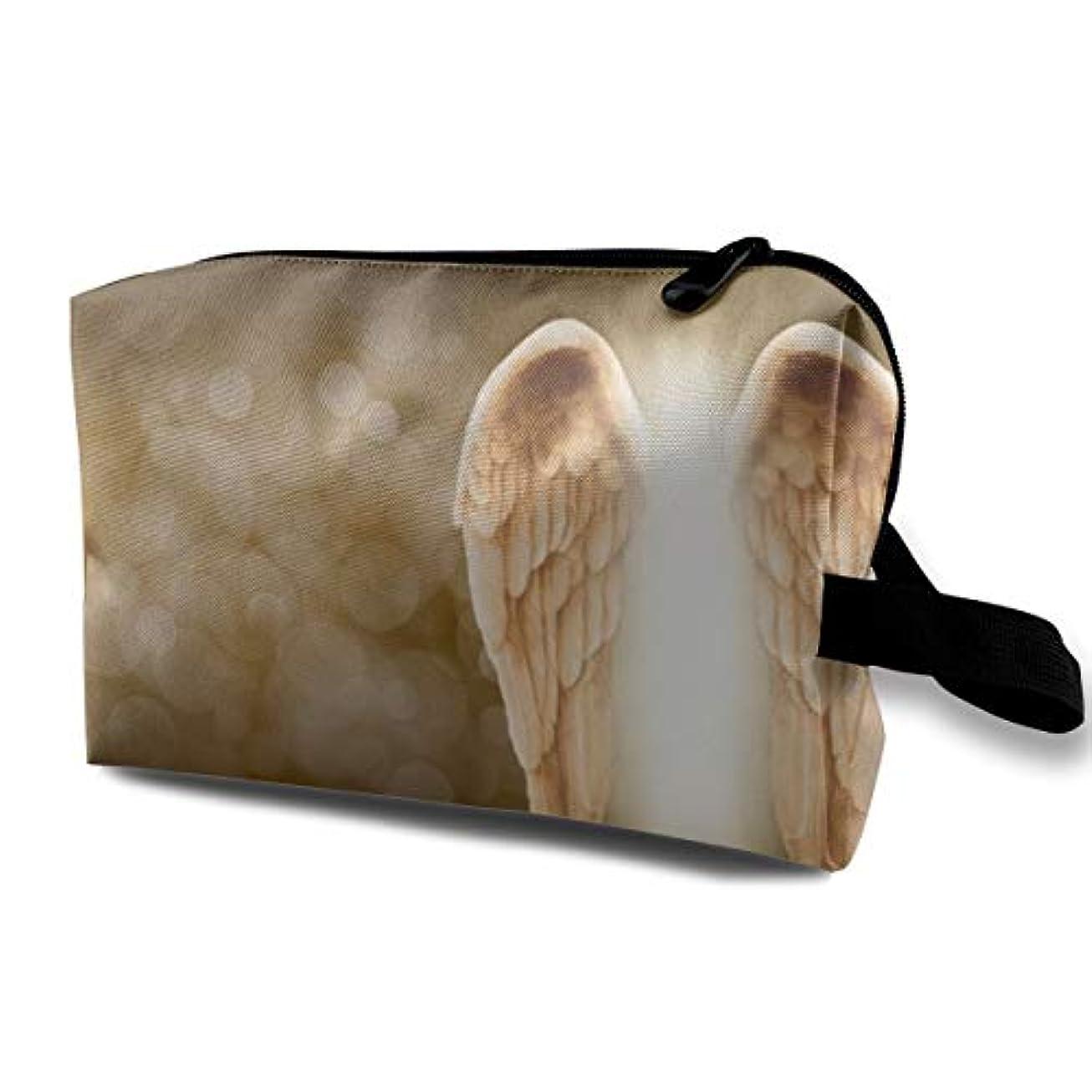 焦がす第三アーサーAngel Wing 収納ポーチ 化粧ポーチ 大容量 軽量 耐久性 ハンドル付持ち運び便利。入れ 自宅?出張?旅行?アウトドア撮影などに対応。メンズ レディース トラベルグッズ